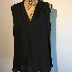 Vince Camuto Black Sleeveless Blouse